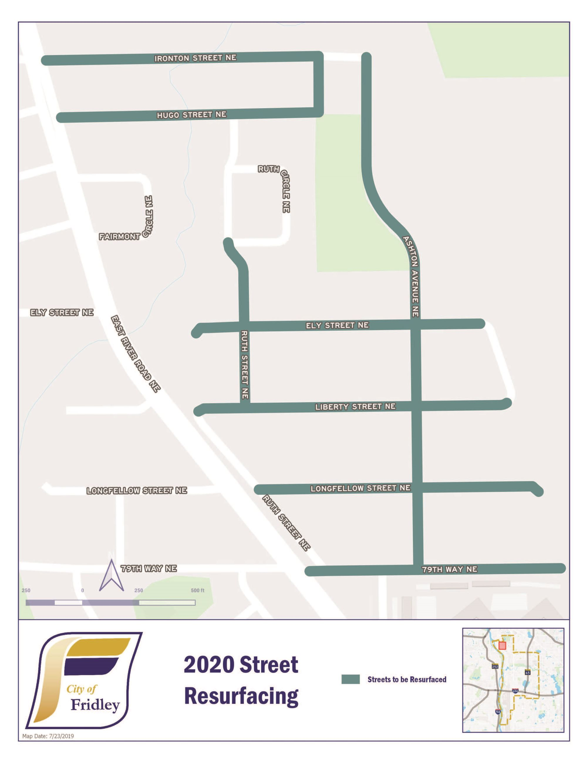ST2020-01 Street Rehabilitation Project Map 190806